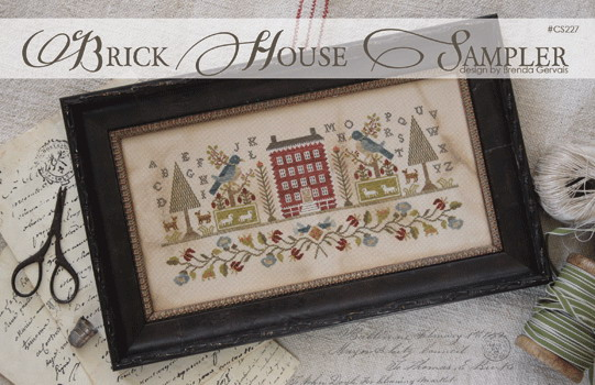 Clearance With Thy Needle CTS227 Brick House Sampler