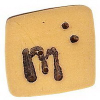 JABCo Alphabets  0200.m Gold Letter M