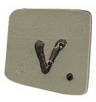 JABCo Alphabets  0300.v Green Letter V