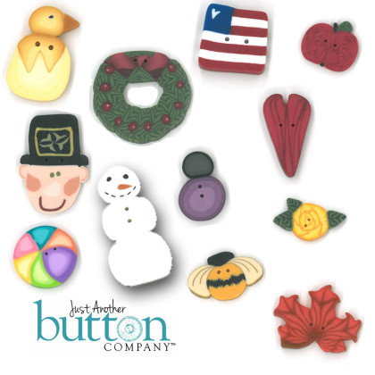 Just Another Button Company 8930 Happy Everything ~ TH Version