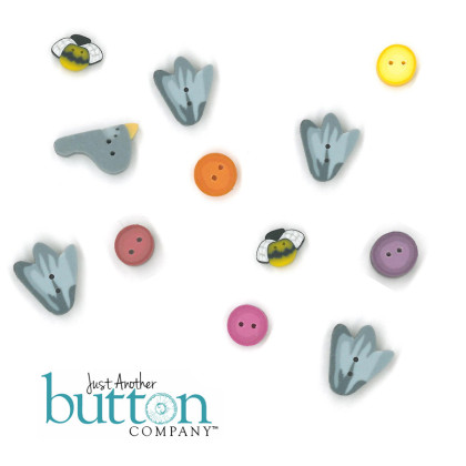 Just Another Button Company 6847 I Love Flowers