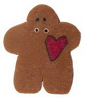 JABCo Art To Heart  nh1020.S Small Gingerbread With Heart