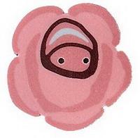 JABCo Art To Heart  nh1031.L Large Rose Cottage Rose
