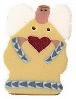 JABCo Art To Heart  nh1056.S Small Yellow Angel