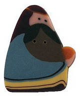 JABCo Art To Heart  nh1070.L Large Blue Wise Man