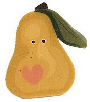 JABCo Art To Heart  nh1087.L Large Leafy Pear