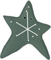 JABCo Art To Heart nh1122.X Extra Large Frosty Grey Sparkle Star