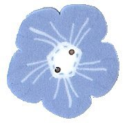 JABCo Blue & White Collectionbw1006.S Small Geranium