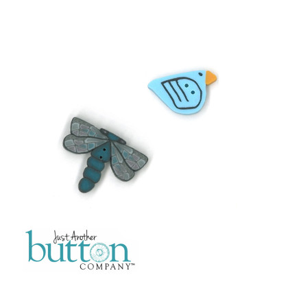 Just Another Button Company 9603 Crow Thru The Seasons ~ September
