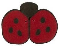 JABCo Fauna  1104.L Large Red Ladybug