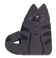JABCo Fauna  1160.L Large Almost Black Cat
