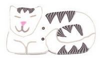 JABCo Fauna  1161 Sleeping White Cat