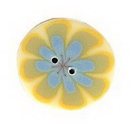 JABCo Lemonade Collectionlc1031.S Small Blue Poppy On Yellow