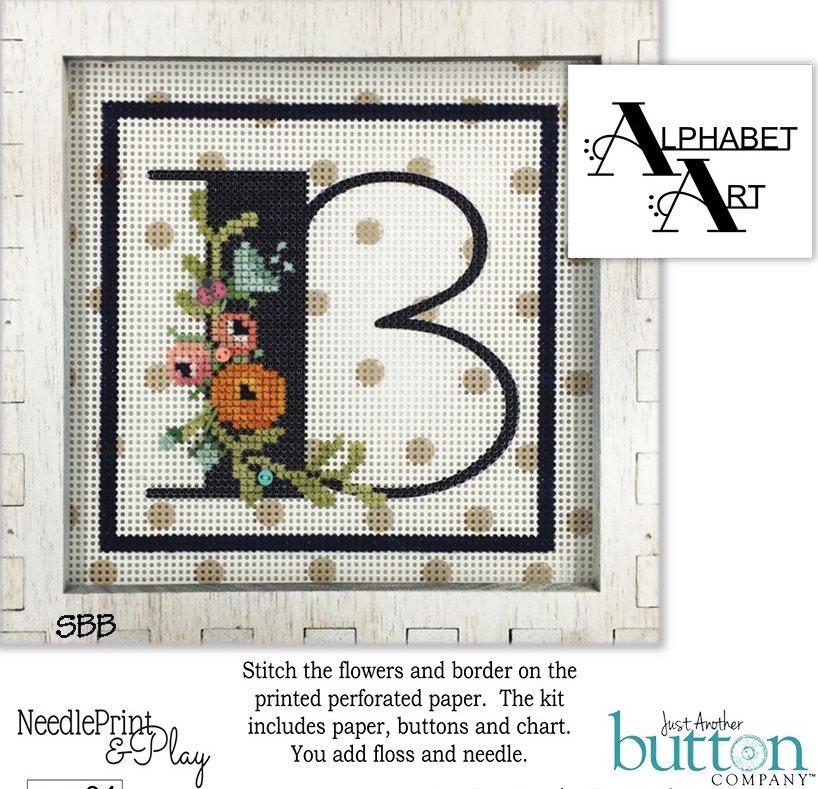 JABCo NeedlePrint & Play  NPP04 Alphabet B Kit