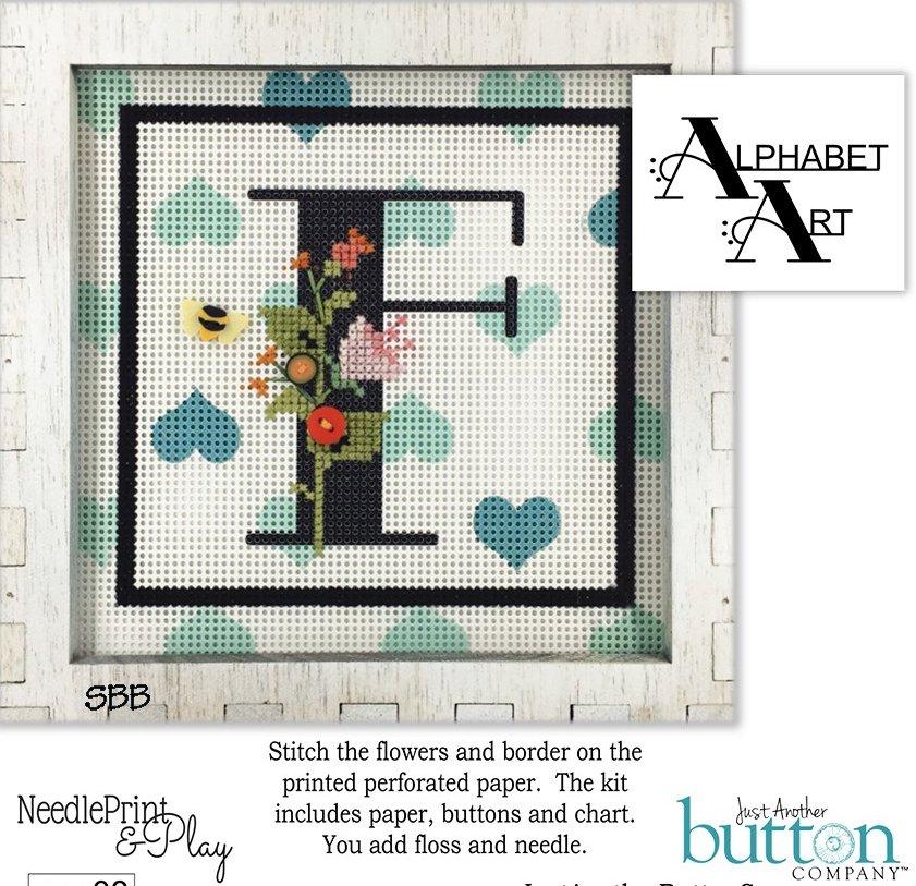 JABCo NeedlePrint & Play  NPP08 Alphabet F Kit