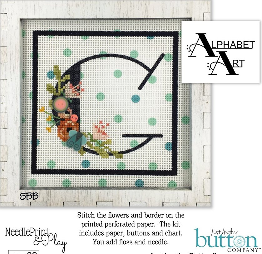 JABCo NeedlePrint & Play  NPP09 Alphabet G Kit