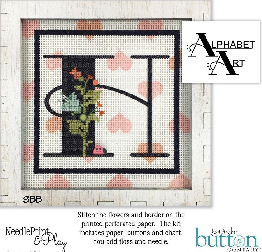 JABCo NeedlePrint & Play  NPP10 Alphabet H Kit