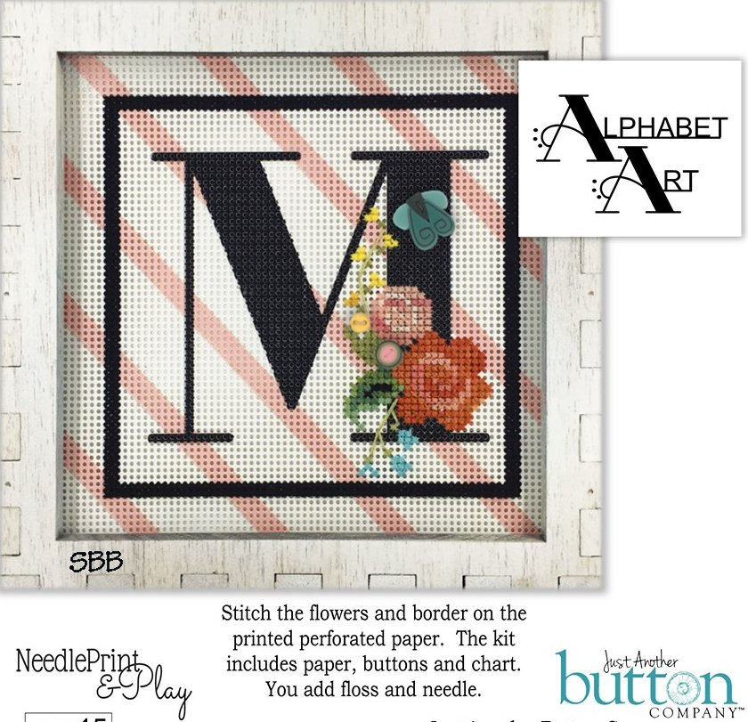 JABCo NeedlePrint & Play  NPP15 Alphabet M Kit