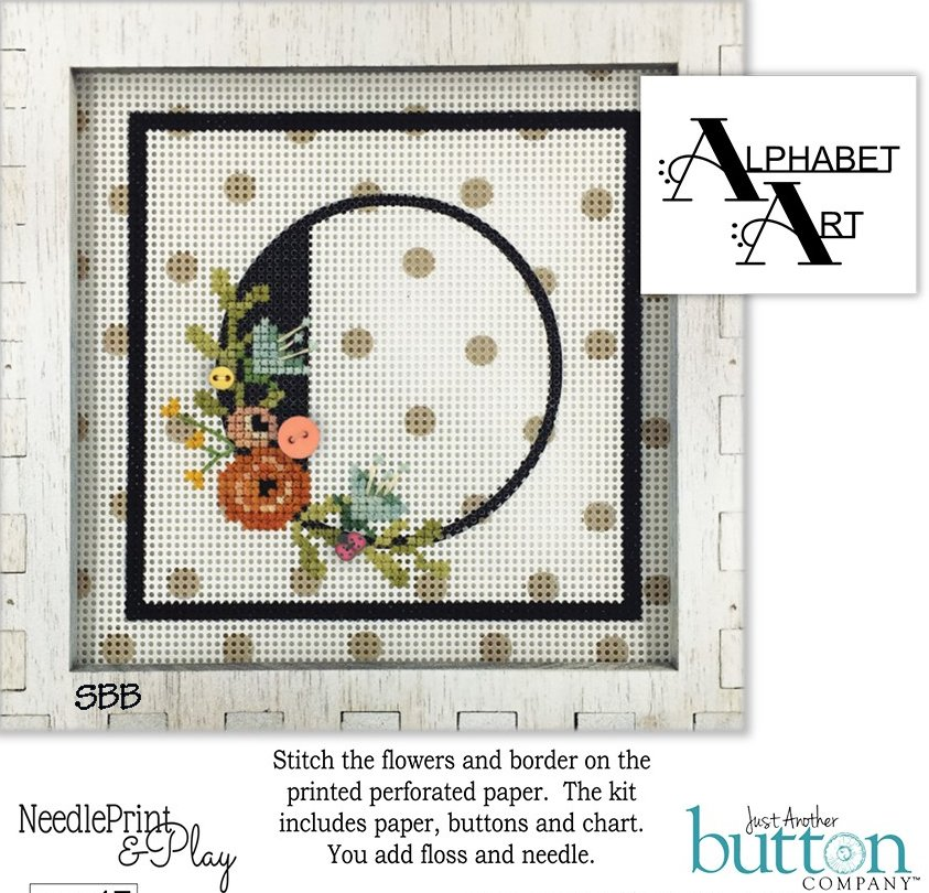 JABCo NeedlePrint & Play  NPP17 Alphabet O Kit