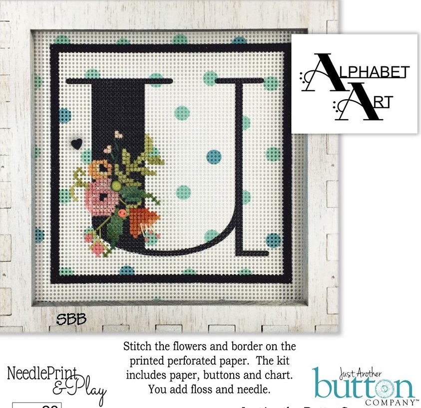 JABCo NeedlePrint & Play  NPP23 Alphabet U Kit