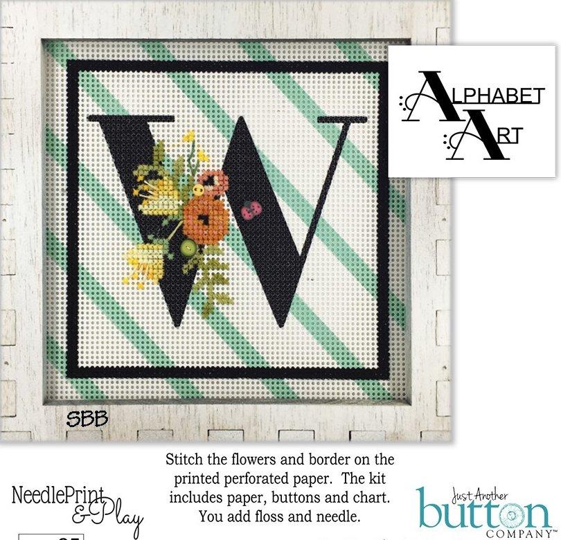 JABCo NeedlePrint & Play  NPP25 Alphabet W Kit