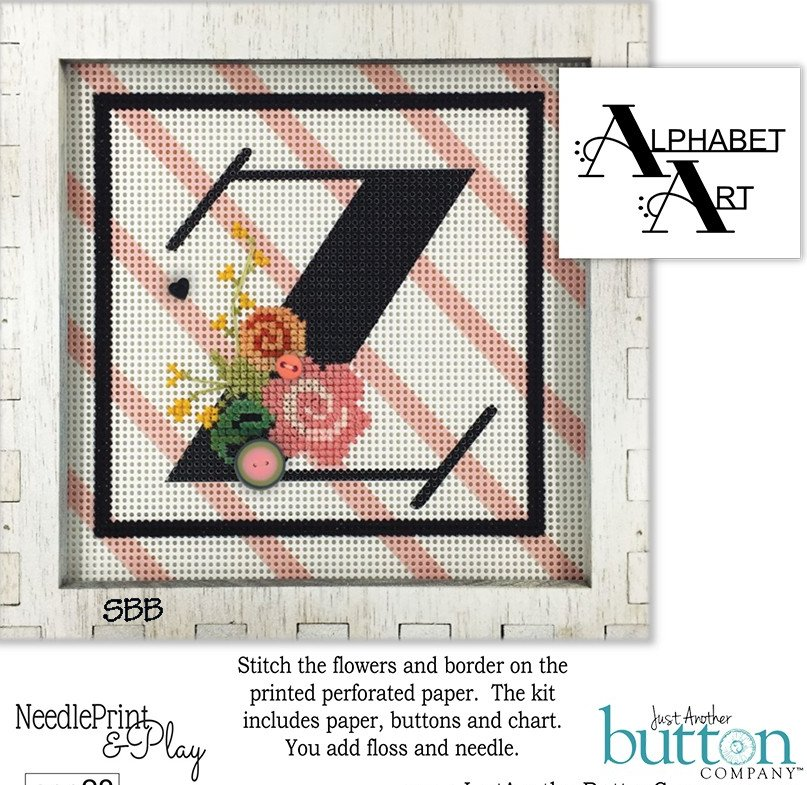 JABCo NeedlePrint & Play  NPP28 Alphabet Z Kit