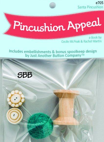 JABCo Pincushion Appeal  e705 Santa Embellishment Pack