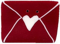 JABCo Red & White Collectionrw1000.L Large Love Letter