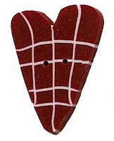 JABCo Red & White Collectionrw1003 Red Plaid Heart