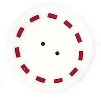 JABCo Red & White Collectionrw1009.L Large Circle