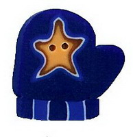 JABCo Seasonal  4421.S Small Blue Mitten With Star