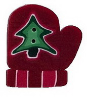 JABCo Seasonal  4423.L Large Red Mitten With Tree