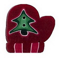 JABCo Seasonal  4423.S Small Red Mitten With Tree