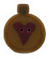 JABCo Seasonal  4489 Primitive Gold Ornament Heart