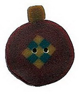 JABCo Seasonal  4490 Primitive Red Ornament Nine Patch