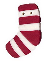 JABCo Seasonal  4523.S Small Red Striped Stocking