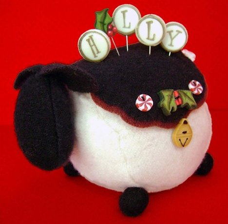 JABCo Sewing Patterns P1035 Ewe Look Fabulous! For The Holly-Days Pincushion