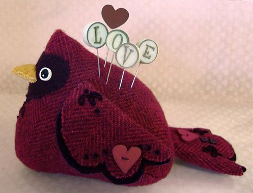 JABCo Sewing Patterns P1038 Love Bird Pincushion