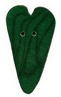 JABCo Shapes  3339.S Small Green Velvet Heart