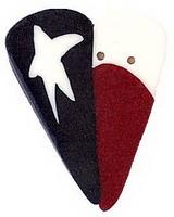 JABCo Shapes  3444.L Large Texas Heart Flag
