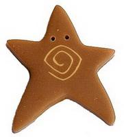 JABCo Shapes  3481.X Extra Large Tarnished Gold Star
