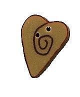 JABCo Shapes  3485.S Small Mocha Red Swirly Heart