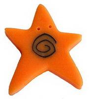 JABCo Shapes  3504.X Extra Large Orange Swirly Star