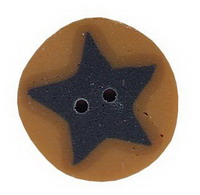 JABCo Shapes  3513.S Small Blue Star On Gold