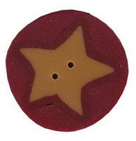 JABCo Shapes  3514.M Medium Gold Star On Red