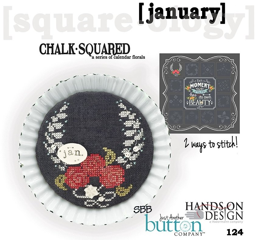 Hands On Designs & JABCo Square·ology124 Chalk·Squared ~ January