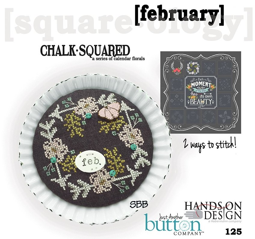 Hands On Designs & JABCo Square·ology125 Chalk·Squared ~ February