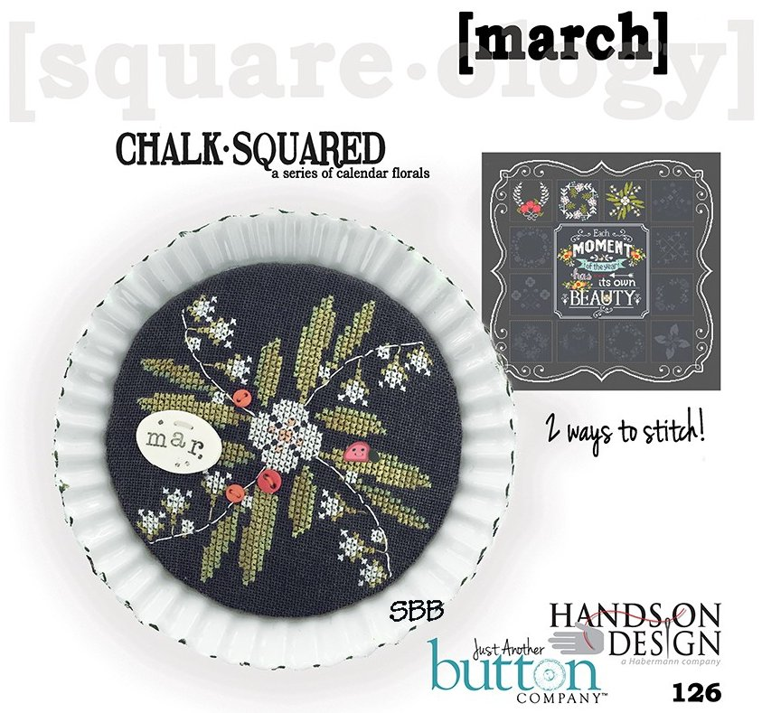 Hands On Designs & JABCo Square·ology126 Chalk·Squared ~ March