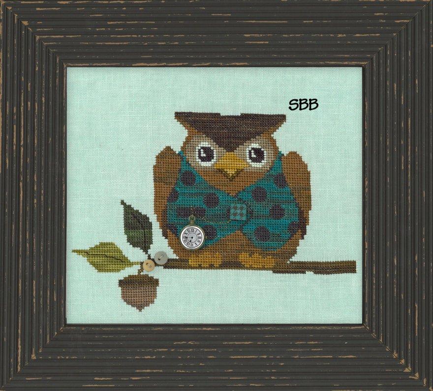 JABCstitch  CH1011 Woodland Owl