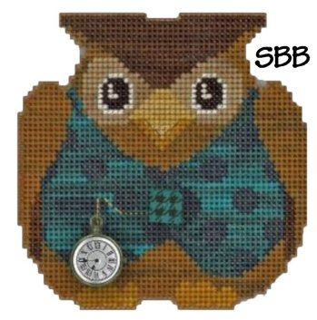 JABCstitch  CH1012 Woodland Owl Ornament